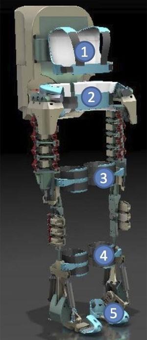 Imagem do exoesqueleto publicada no perfil de Miguel Nicolelis no Facebook (Foto: Reprodução/Facebook/Miguel Nicolelis)