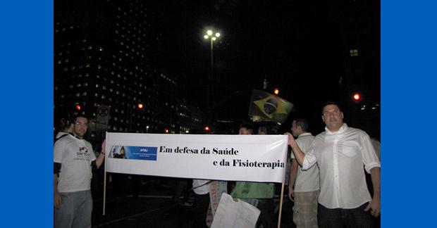 PRESENÇA DA AFERJ NAS MANIFESTAÇÃO POPULARES NO RIO DE JANEIRO EM DEFESA DA SAÚDE E DOS SUS.