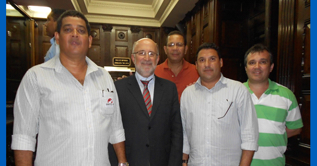 VISITA DO PRESIDENTE DA AFERJ, COM REPRESENTANTES DO SINFITO-RJ E DA AFA A ALERJ E AO DEPUTADO ESTADUAL LUIS PAULO.