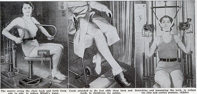 Quem precisa de academia com esta cadeira? Esta super cadeira que foi moda na França fazia com que todos os membros ficassem em movimento. Ou seja, ela supostamente oferecia os mesmos resultados dos aparelhos de academia