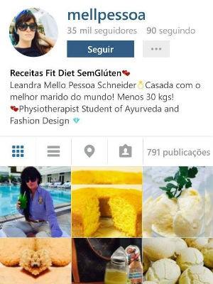 Perfil de Leandra no Instagram tem mais de 35 mil seguidores (Foto: Reprodução/Instagram)