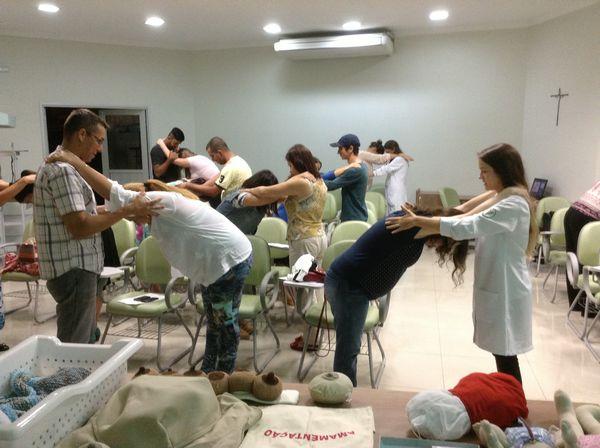 Alunos do Curso de Fisioterapia participam do 2º curso de orientações a gestantes promovido pela Santa Casa de Misericórdia de Bragança – USF