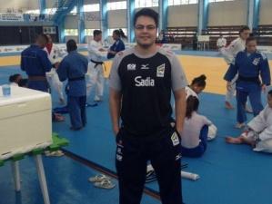 Gabriel Bogalho em preparação da seleção brasileira de judô. (Foto: Divulgação)