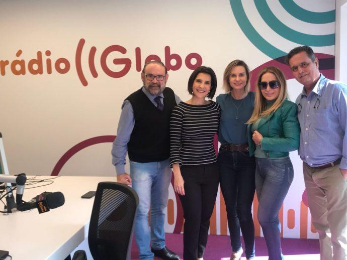 A partir da direito Eduardo Moreno, Rosemary, Paula Bulamarque, Vanessa Riche e Dr Álvaro Afonso